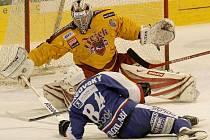 Brankář Milan Řehoř podržel jihlavské hokejisty několika parádními zákroky a i díky němu ukončila Dukla třízápasové čekání na body.
