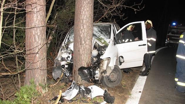 Nebezpečný úsek za Hodicemi je častým místem dopravních nehod.