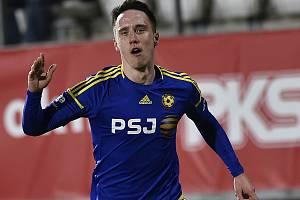 Davis Ikaunieks ještě v dresu FC Vysočina.