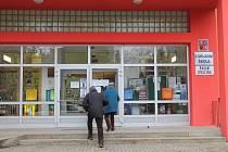 Volební místnost v jihlavské Základní škole Kollárova.