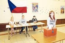 Na Střední uměleckoprůmyslové škole v Jihlavě-Heleníně se v pondělí a úterý konají studentské volby do Evropského parlamentu. Zúčastnila se i studentka Nikol Řepková (na snímku).