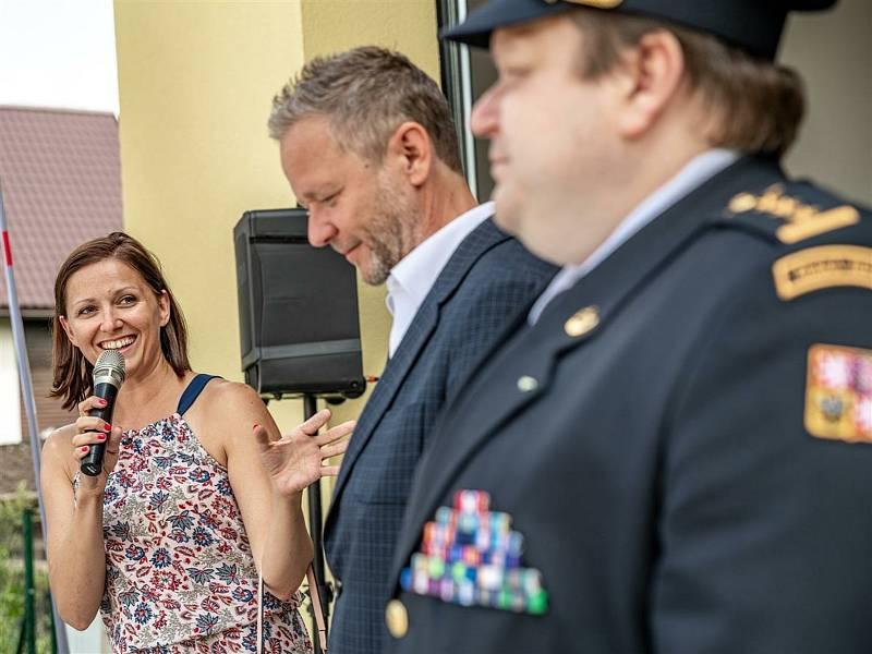 Slavnostní otevření nové hasičské zbrojnice ve Zborné.