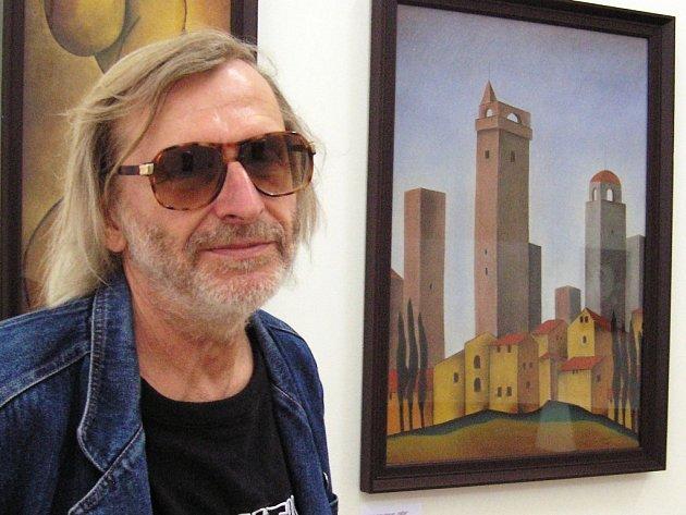 Jiří Duffek. Jeho současnou tvorbu mohou návštěvníci v těchto dnech zhlédnout v umělcově rodném Pacově.