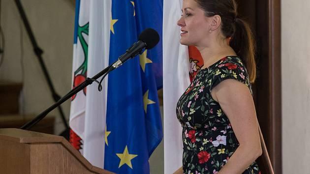 Ustavující zasedání nového jihlavského zastupitelstva a volba historicky první primátorky Jihlavy Karolíny Koubové (na snímku).