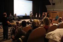 Ve velkém sále jihlavského kina Dukla se ve středu odpoledne debatovalo o územním plánu.