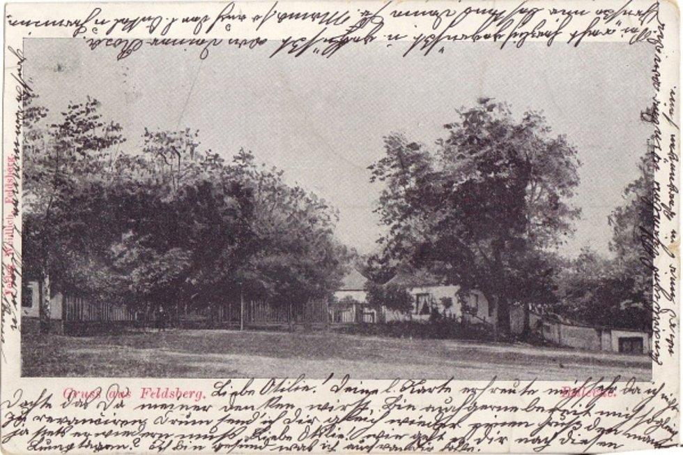 Historická pohlednice letohrádku Belvedere u Valtic na Břeclavskuzdroj: Daniel Lyčka