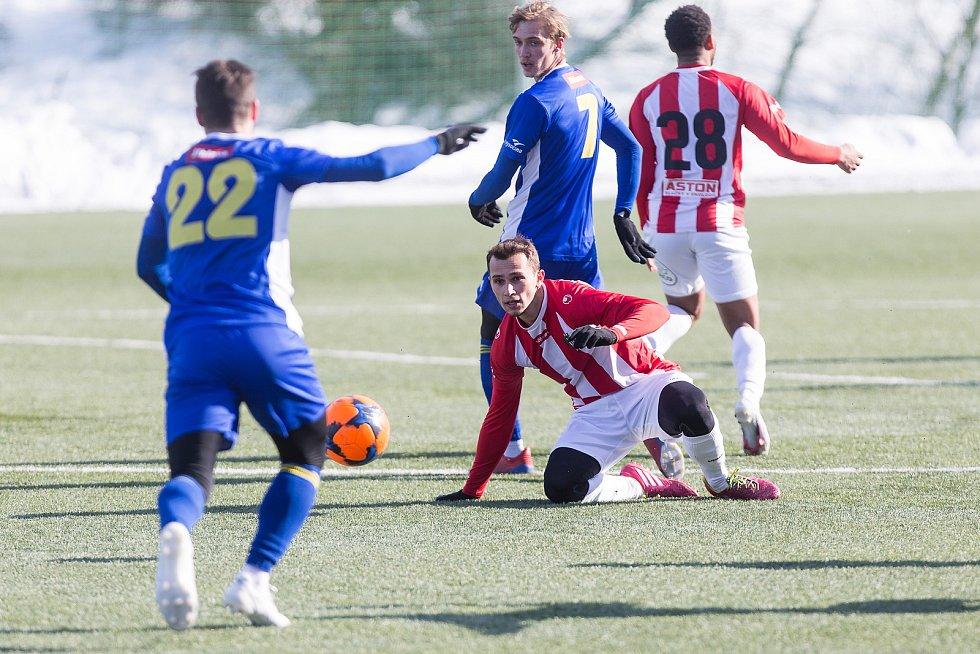 Přípravné utkání mezi FC Vysočina Jihlava a FK Viktoria Žižkov.