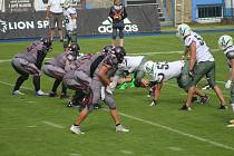 Utkání ligy amerického fotbalu Vysočina Gladiators - Brno Alligators