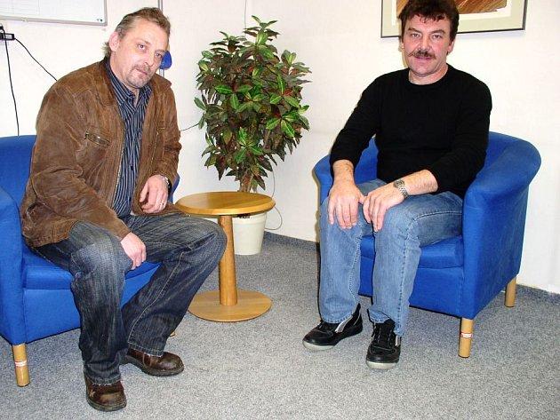 Jiří Valenta (vpravo) a Ladislav Melichar jsou nejvyššími představiteli odborové organizace OS KOVO ve firmě Bosch Diesel v Jihlavě.