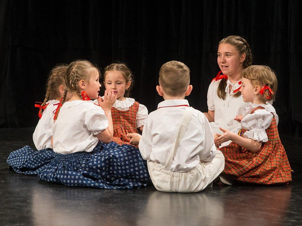 Postupová přehlídka dětských folklórních souborů z kraje Vysočina.