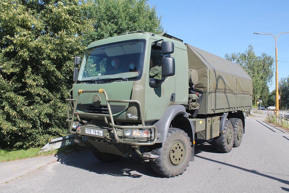 Vojáci přijeli v poslední červencový den do Jihlavy