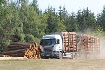 Vytěžené dřevo je často umístěno příliš blízko silnicím i lesním cestám.
