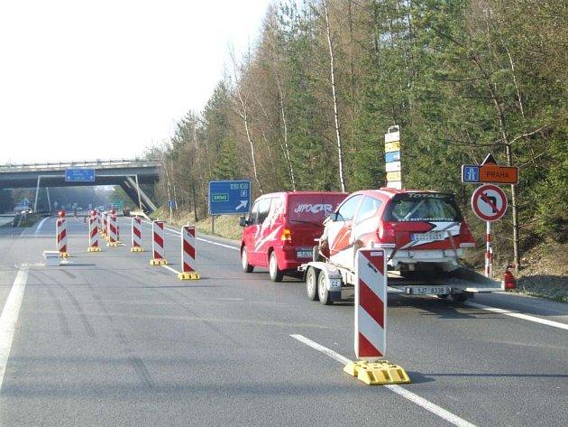 Omezení dopravy v okolí přivaděče u Exitu 112.