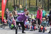 V Jihlavě si o víkendu zasoutěžili nejen rodiče a prarodiče. Na start se postavily i děti.