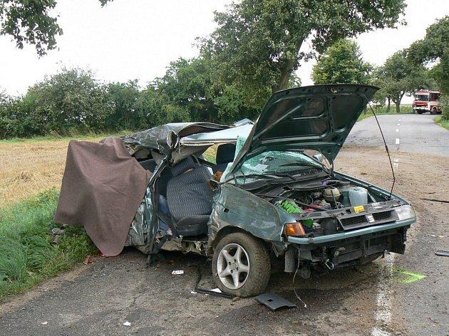Sobotní čelní střet dvou vozidel nedaleko obce Hosov u Jihlavy nepřežila jedna z cestujících.