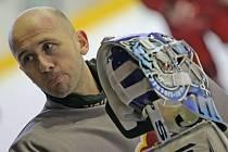 Gólman Pavel Falta si poprvé zatrénoval s prvoligovými jihlavskými hokejisty. Dukle by měl vypomáhat až do konce letošní sezony.