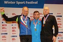 Milan Venhoda (vlevo) byl se svými výkony v Seefeldu spokojený. Tři medaile nečekal.