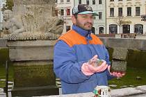 V Neptunově kašně na Masarykově náměstí v Jihlavě se dají najít kromě obligátních mincí i jiné zajímavé předměty - dlažební kostky, láhve, dokonce i občanský průkaz.