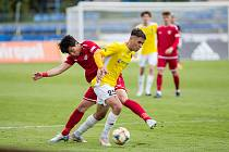 Fotbalové utkání mezi FC Vysočina Jihlava a MFK Chrudim, ilustrační foto.