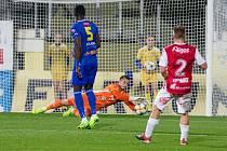 Třinácté kolo FNL mezi FC Vysočina Jihlava a FK Pardubice.
