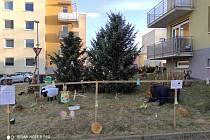 Kolektiv z bytového domu Buková 13 se v posledních týdnech nenudil. Pro kolemjdoucí vytvořili parádní velikonoční podívanou.