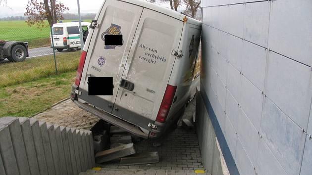 Nehoda dodávky v Kostelci u Jihlavy