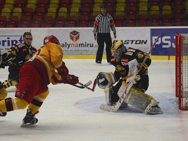 Důležitá výhra. Jihlavští junioři překonali gólmana Litvínova čtyřikrát, a tím se hodně přiblížili play-off.