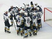 Utkání 7. kola baráže o hokejovou extraligu HC Dukla Jihlava - HC Rytíři Kladno.