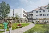 Vizualizace nového domova v Telči.