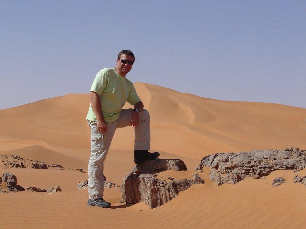 V Libyi zřejmě našli ostatky kuchaře Pavla Hrůzy zVelkého Meziříčí na Žďársku. Snímek je z libyjské poště předtím, než se ztratil.