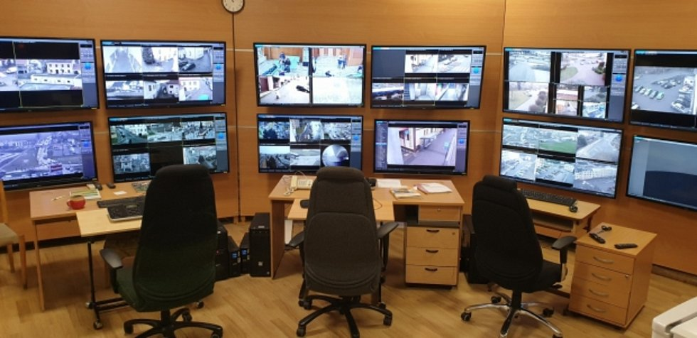 Městský dohlížecí kamerový systém.