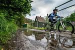 Záplavy na cyklostezce v Jihlavě a okolí.