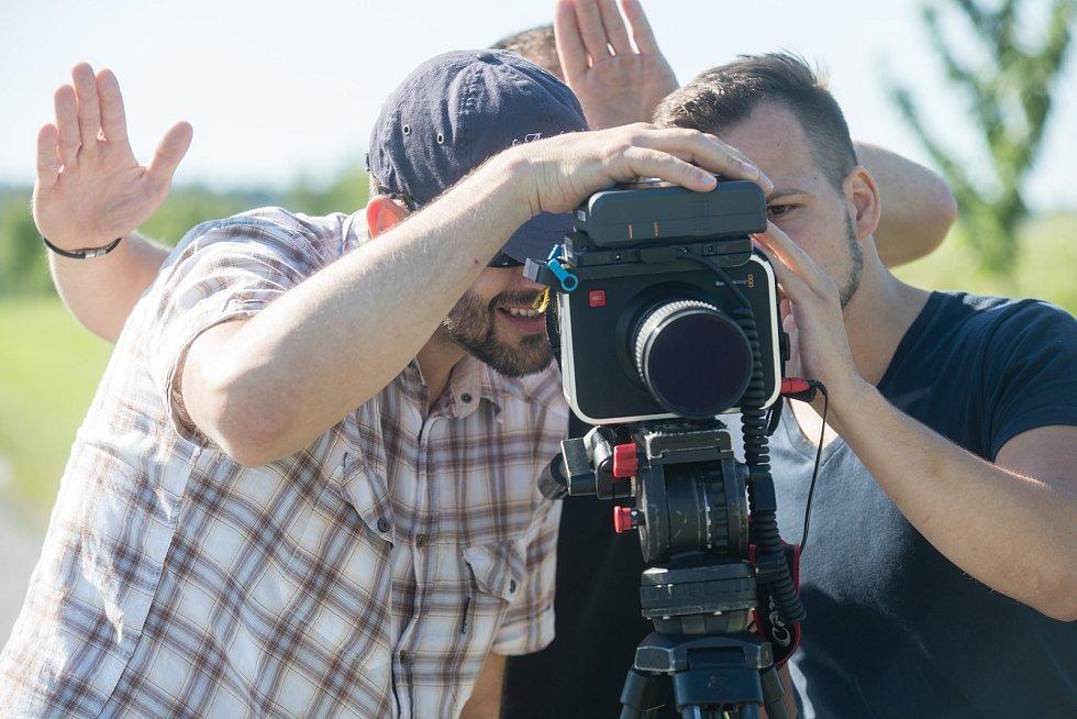 Natáčení videoklipu u Ořechova na Jihlavsku.