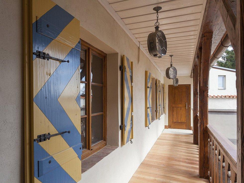 Obnovený dům v Telči.