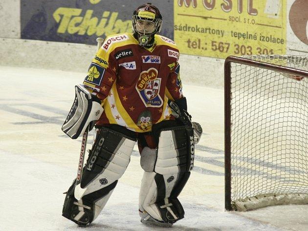 Barvy Dukly hájil gólman Edgars Masalskis v sezoně 2004/05.
