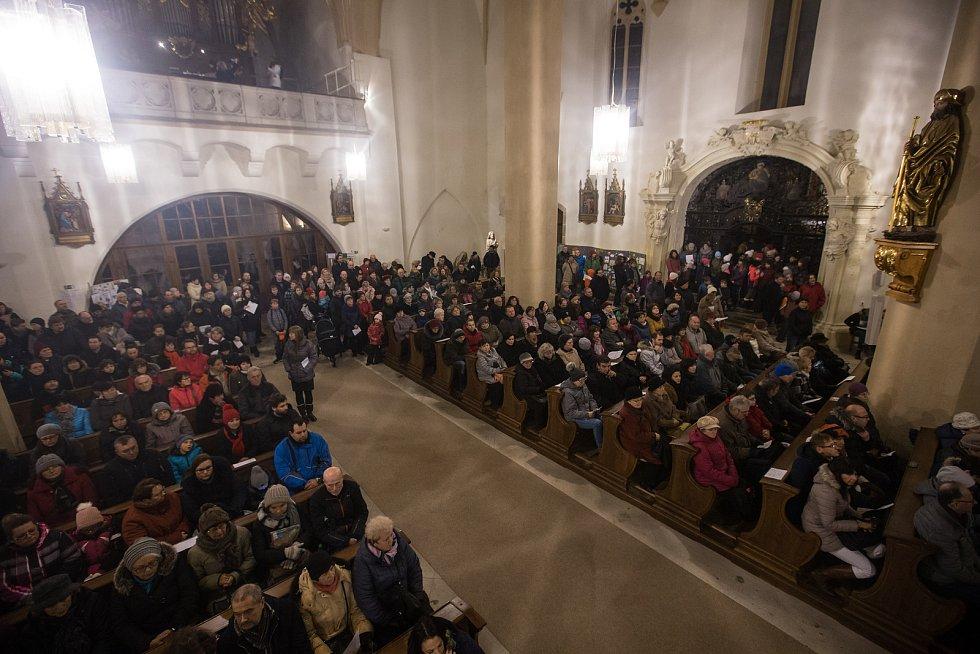 Tříkrálový koncert Základní umělecké školy Jihlava v Kostele sv. Jakuba Většího.