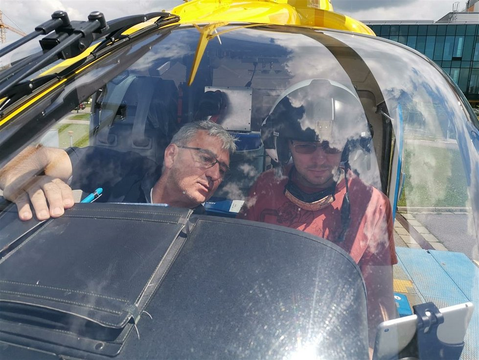 Honza si vyzkoušel místo záchranáře.