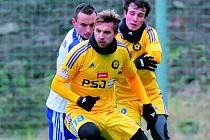 Po remízách se Znojmem (na snímku) a s Brnem jihlavští fotbalisté poprvé v přípravě zvítězili.
