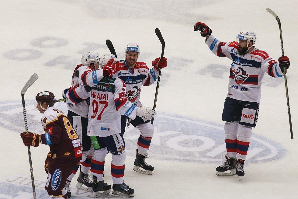 Utkání 45. kola hokejové extraligy: HC Dukla Jihlava - HC Dynamo Pardubice, 30. ledna 2018 v Jihlavě.