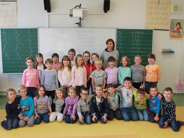 Na fotografii jsou žáci 1.Ajihlavské Základní školy Nad Plovárnou pod vedením třídní učitelky Dany Navrátilové.