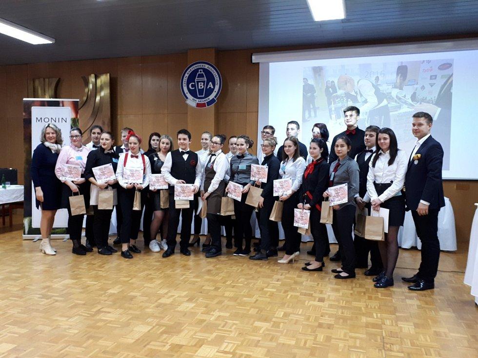 Studenty z Třeště se zúčastnily koktejové soutěže v Kroměříži.