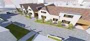 Takto pět nových rodinných domů bude vypadat.