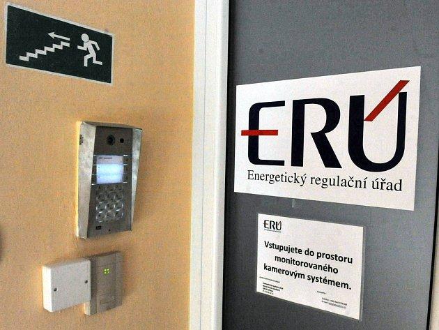 Na snímku je vstup do prostor dislokovaného pracoviště ERÚ v Ostravě.