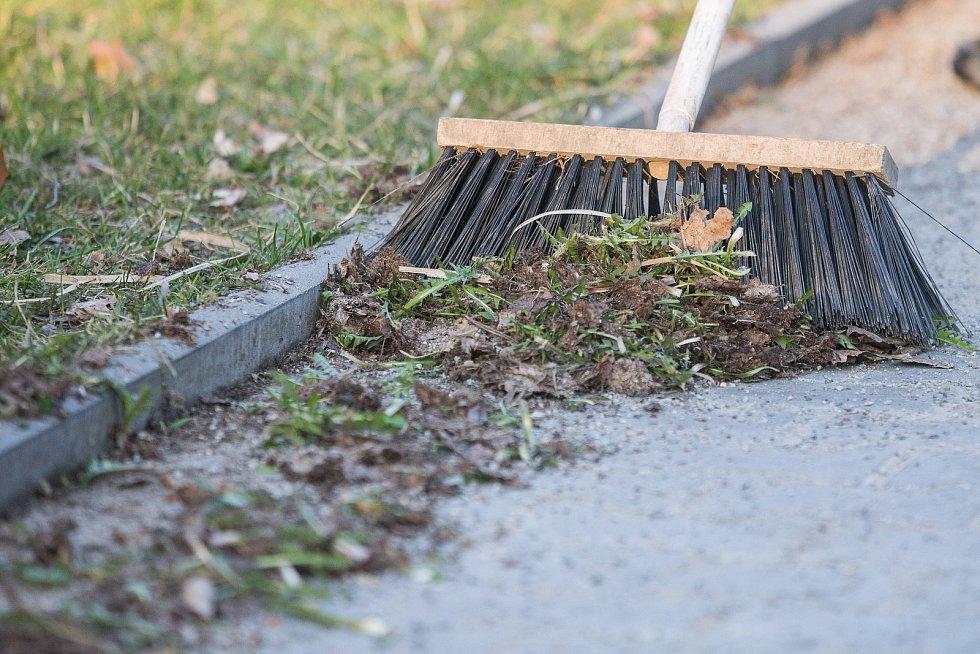 Blokové čištění v ulicích Jihlavy. Ilustrační foto.