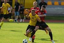 Kapitán TJ Sapeli Polná Filip Dvořáček (v červeném) je rád, že měl střeleckou formu. Hlavně však myslí na úspěchy týmu.