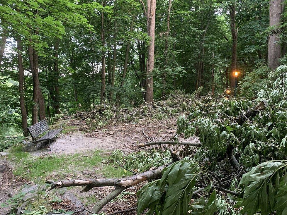 Předposlední červnovou noc se Jihlavou prohnala větrná smršť doprovázena silnou bouřkou a deštěm.