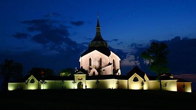 Poutní kostel sv. Jana Nepomuckého na Zelené hoře ve Žďáře nad Sázavou.
