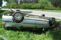 V sobotu havarovala řidička u Řehořova.