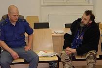 Obžalovaný Bohumír Šlapal u soudu.