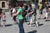Nordic Walking na jihlavském náměstí
